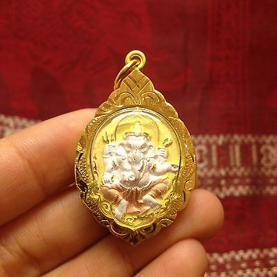 High Quality Phra Pikanet Lord Ganesh Hindu God Ohm Amulet Luck Charm Protect