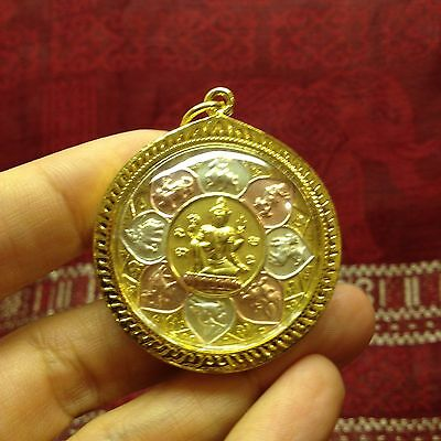 Phra Phorm Porm  Rahu Yant Thai Buddha Amulet Luck Rich Wealth Success Protect
