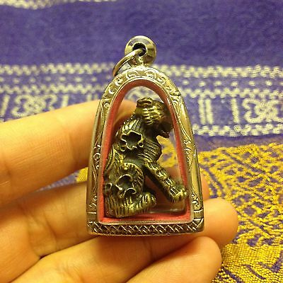 Magic Tiger Lp Pern Thai Amulet Talisman Brass Luck Happiness Healthy Success