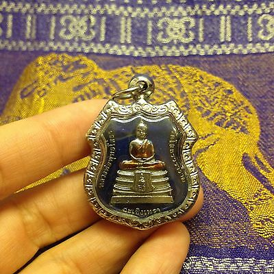 Lp So thorn Sacred Thai Buddha Amulet Luck Rich Wealth Life-Protect Peaceful