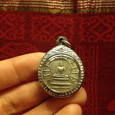 Sitting Buddha Maha Yant Thai Buddha Amulet Luck Rich Wealth Success Protect
