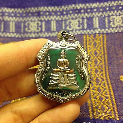 Lp So thorn Sacred Thai Buddha Amulet Luck Rich Wealth Life-Protect Compassion
