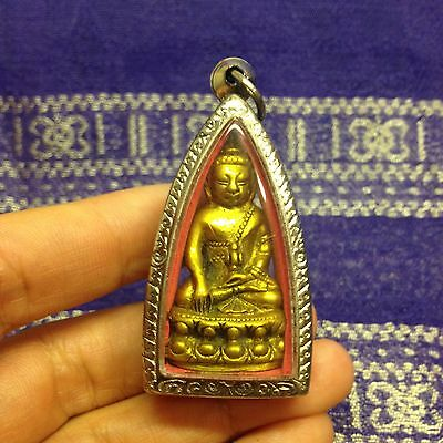Phra Kring Lp Phol Yantra Thai Buddha Amulet Luck Wealth Peace Happiness Protect
