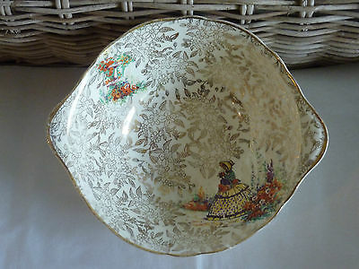 """EMPIRE CRINOLINE LADY""  Small Round Bowl with Tabs - Made in England  A/F"