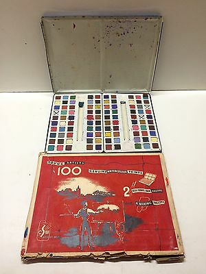 Vintage Water Colour Paint Set - made in England