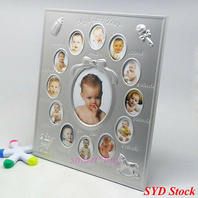 Baby My First Year Photo Frames Newborn 12 Months Collage Shower Gift Keepsake