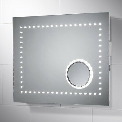 Led Illuminated Magnifying Bathroom Mirror With Sensor & Demister Electra