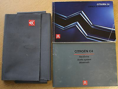 Citroen C4 Owner Manual Handbook Wallet 2004-2008 Pack 10178