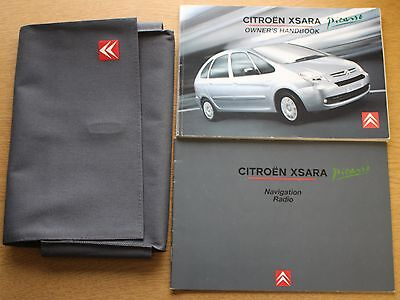 Citroen Xsara Picasso Manual Handbook Wallet Navi 2004-2010 Pack 8738