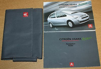 Citroen Xsara Picasso Manual Handbook Wallet Navi 2004-2010 Pack 5947