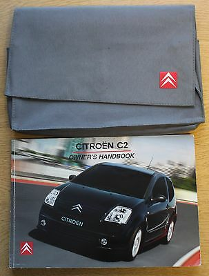 Citroen C2 Manual Handbook Wallet 2003-2005 Pack 10997