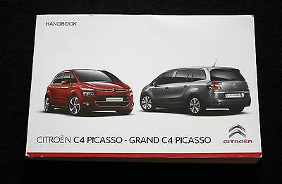 Citroen C4 Picasso Grand Picasso Owners Manual Handbook 2013-2016 Audio Navi