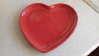 CHINA HEART TEA PLATE RED great valentine day
