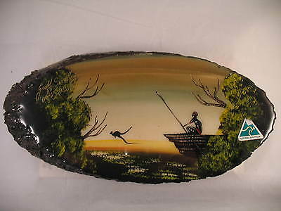 George Smalley's Austalia Painting on Wood Signed