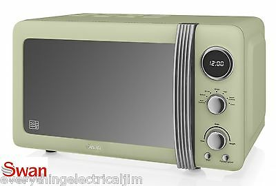 Swan SM22030GN 800W 20 Litre Capacity Vintage/Retro Design Microwave in Green