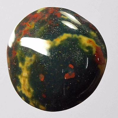Cts. 14.00 NATURAL BEAUTIFUL BLOODSTONE  ROUND CAB LOOSE GEMSTONE NMJEWELLS