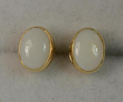 1.50 Carat Opal Solitaire 9ct Gold Stud Earrings p1962