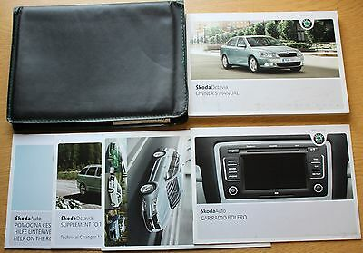 Genuine Skoda Superb Handbook Owners Manual Wallet 2008-2013 Pack 9404