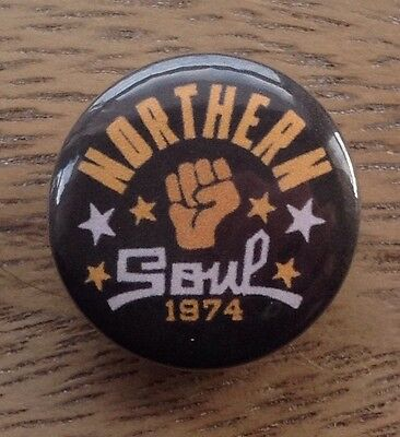 """NORTHERN SOUL 1974, 1"""" ( 25mm ) Classic Pin / Button Badge, Northern Soul, Mod"""