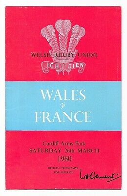 1960 - Wales v France, Five Nations Match Programme.