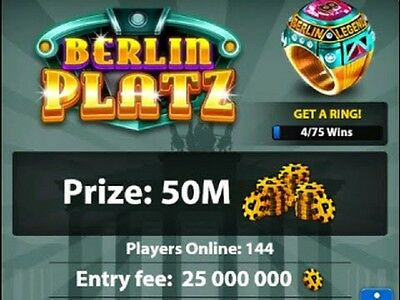 8 ball pool coins - 15 million coins or any amount by deal (New or Transfer)