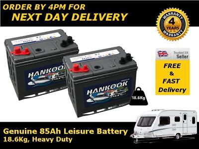 Deal Pair 12v 80ah Hankook Ultra Deep Cycle Leisure Battery