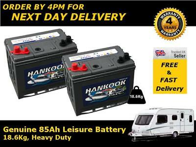 Deal Pair 12v 80Ah 88Ah Hankook Ultra Deep Cycle Leisure Battery