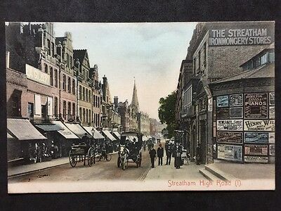 RP Vintage Postcard - London #SC1 - Streatham High Road - Advertising Carriages