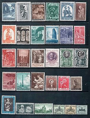 The Vatican - Mixed Lot of 30 Stamps MLH