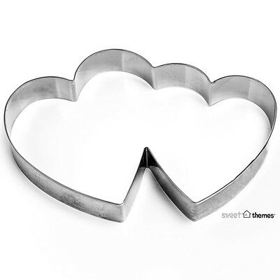 Double Heart Stainless Steel Cookie Cutter