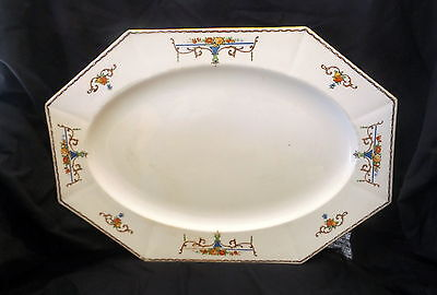 Myott's & Sons Platter With A Floral Design. Size 37 x 25.5 cm.