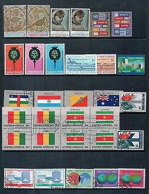 United Nations - Mixed Lot of 31 Stamps  Good Used to MLH