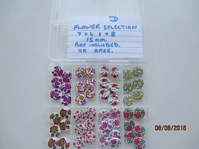 A flower selection lovely craft buttons (such pretty colours as shown)