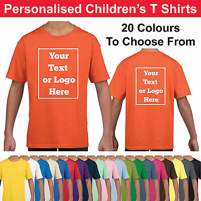 Personalised Childrens T Shirts Printed Kids Childs T-Shirt Tee Shirt Photo