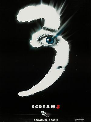 """Scream 3 16"""" x 12"""" Reproduction Movie Poster Photograph"""