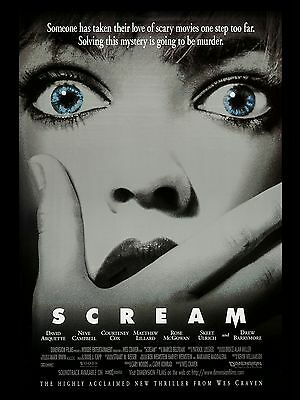 """Scream 1996 16"""" x 12"""" Reproduction Movie Poster Photograph 2"""
