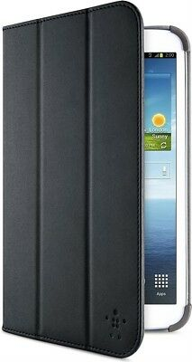 Belkin Stripe Cover Case Folio Flip Stand for Samsung Galaxy Tab 3 8.0 | Black