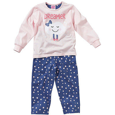 Cozy n Dozy Younger Girls Cute Dreamer Sleepy Cloud Long Sleeve Cotton Pyjamas