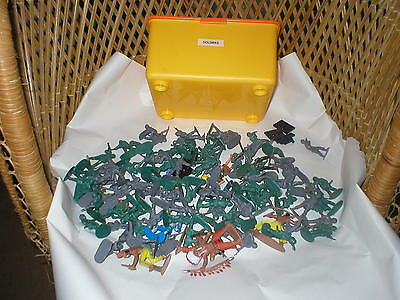 A Box Of Toy Plastic Soldiers