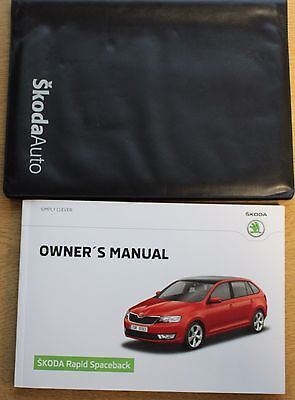 Skoda Rapid Spaceback Handbook Owners Manual Wallet 2013-2017 Pack 13512