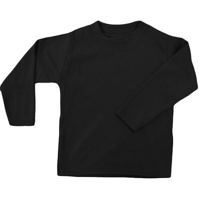 Black Unbranded Baby Long Sleeve T-Shirt 1-2y