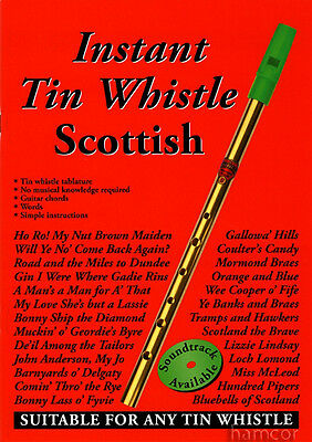 Instant Tin Whistle Scottish Learn to Play Sheet Music Book Songbook with Chords