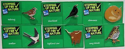 Joblot Of 6 Rspb Stepping Up For Nature Charity Badges Lot 3