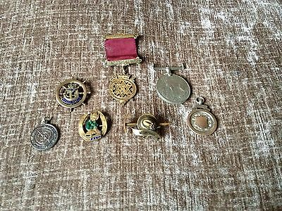 Mixed Lot Of Pin Badges Medals etc old