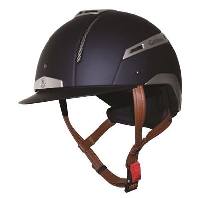 GATEHOUSE VOLARE RIDING HAT NAVY & SILVER horse rider safety helmet protection