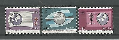 Malta 1988 Anniv's And Events Sg,829-831 Um/m Nh Lot 2216A