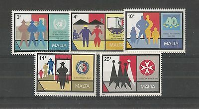 Malta 1989 Anniv's And Commemorations Sg,855-859 Um/m Nh Lot 2218A