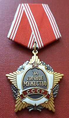 Soviet Russian Rare Original Order for Personal Courage No. 002212 medal badge