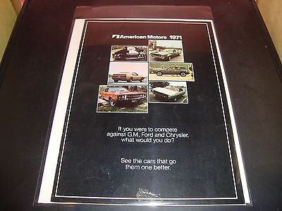 1971 American Motors NM Condition Brochure Car Vehicle Hornet / Gremlin