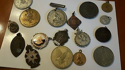 Collection Of Mixed Medals Medallions Badges Tokens 17